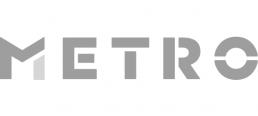 metro logo grey