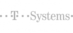 t systems logo grey
