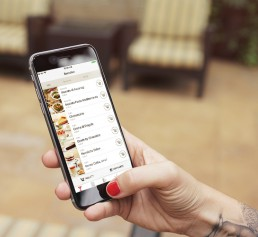 mockup vapiano app for iphone