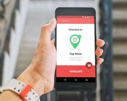 mockup IOT supermarket android app