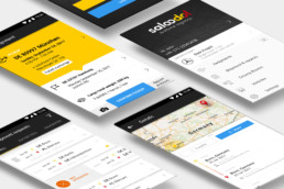 saloodo dhl freight android app mockup
