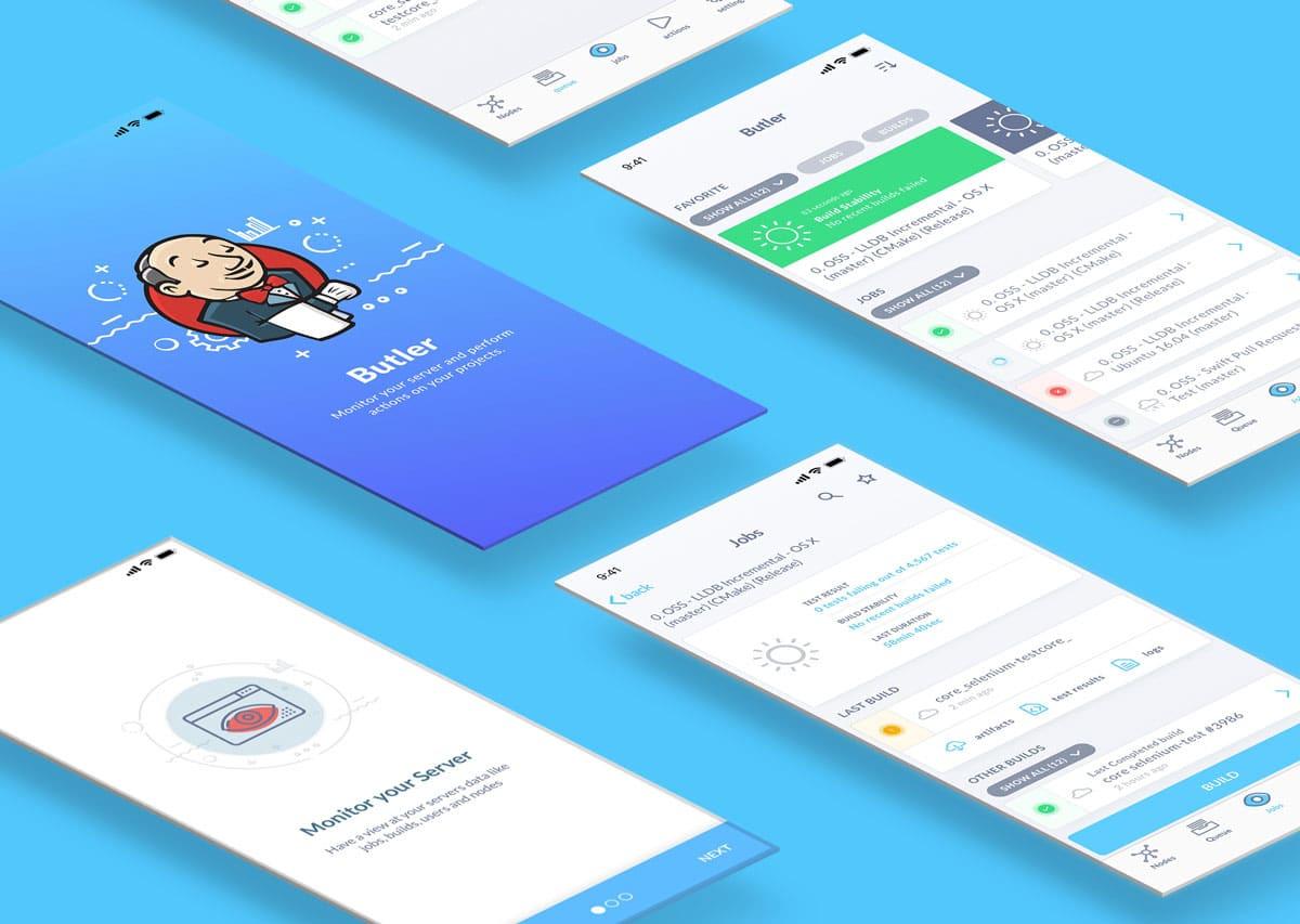 Android App - iOS App JENKINS - CI Client - Screenshots - MobiLab