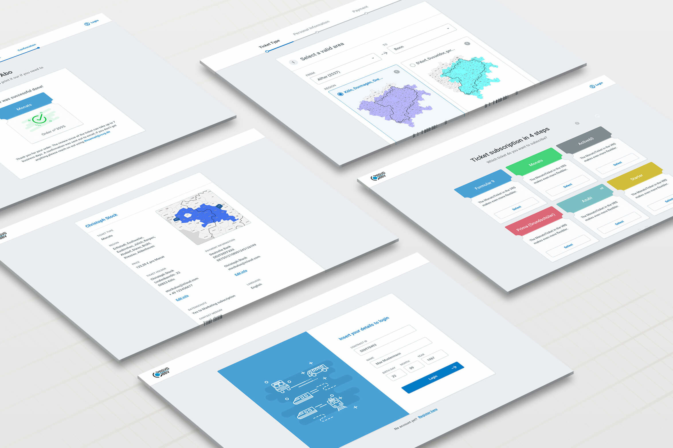 SaaS for RSVG - Subscription Ticket Selling - Screenshots - MobiLab