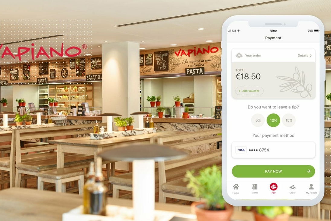 Restaurant Payment App - Registration at VAPIANO | MobiLab