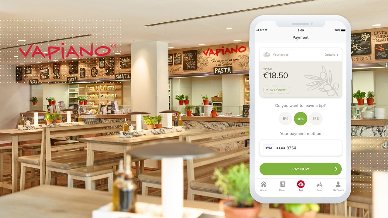 Restaurant Payment App - Registration at VAPIANO   MobiLab
