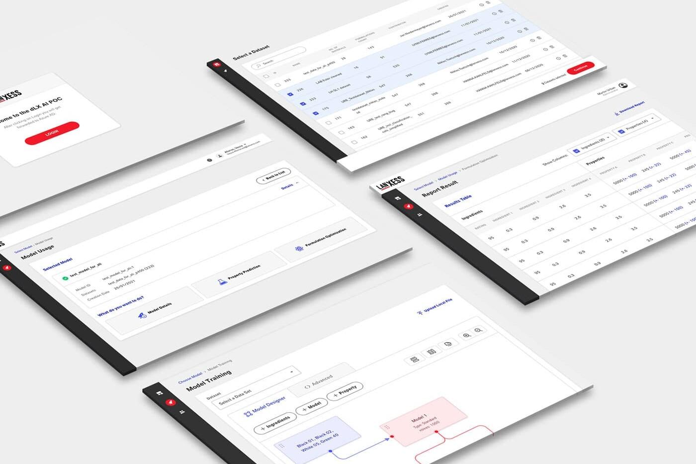 Data Management Platform for LANXESS - Screenshots