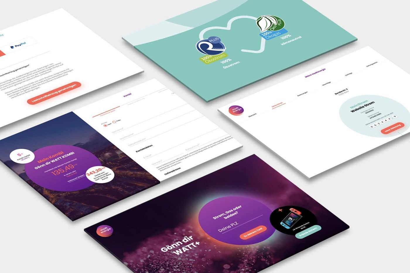 Cloud Native Service - Stadtenergie - Screenshots
